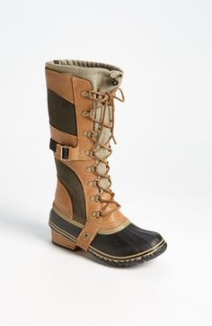 I'm going to have to take up fishing again, because I love these boots! ~Sorel 'Conquest Carly' Boot available at #Nordstrom