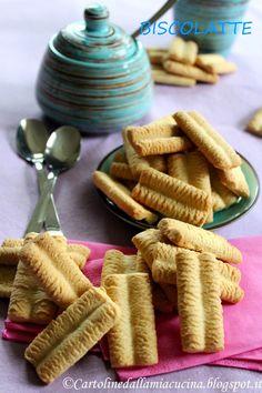 Postcards from my kitchen: I Biscolatte Montersino Italian Pastries, Italian Desserts, Italian Recipes, Biscotti Cookies, Galletas Cookies, Beignets, Cute Food, I Love Food, Cookie Recipes