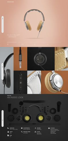 Web Design: http://beoplay.com/Products/BeoplayH6#at-a-glance