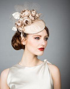 Rachel Trevor Morgan - Silk taffeta pillbox with classic hand made roses and veil Bridal Hat, Bridal Headpieces, Fascinator Hats, Fascinators, British Hats, Rachel Trevor Morgan, Cocktail Hat, Fancy Hats, Silk Taffeta