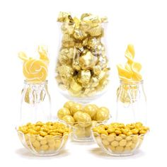 Gold Candy Buffet Ideas. Huge selection of assorted candy types, colors & containers - perfect for planning your candy buffet.