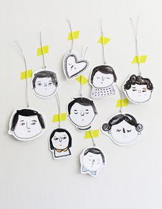 handmade gift tags // handgemachte Geschenkanhänger