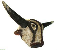 African Bidjogo bush cow mask Dugn'Be Guinea Bissau via Africa Direct