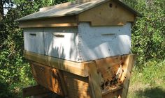 By: David Dawson If you're going to manage your top bar hive for honey production – you're going to have problems. Keeping bees. Top Bar Bee Hive, Langstroth Hive, David Dawson, Raising Bees, Honey Production, Urban Homesteading, Bee Keeping, Queen Bees, Crates