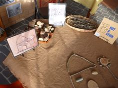 Stick, pebble and timber art at Pied Piper Preschool
