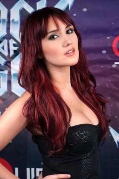 Dulce Maria Dark Red Hair Colors Divas Style