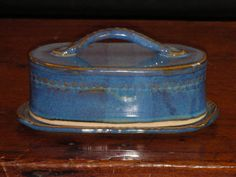 Hand made ceramic butter dish with lid by JaneWojick on Etsy, $18.00