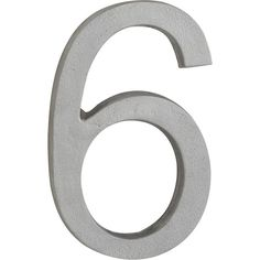 CB2 House Number 6 ($9.95) ❤ liked on Polyvore featuring home, outdoors, outdoor decor, numbers, words, outdoor wall decor, outdoor garden decor, outdoor patio wall decor and cb2
