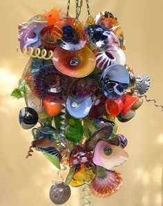 Glass Flowers Chandelier  CustomMade by Jon Oakes