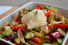 Tosca de la Mota   Recetas sencillas para todos los días - Lomo de bacalao fresco con ensalada Griega