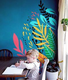 Diy Living Room Decor, Diy Wall Decor, Graffiti Bedroom, Interior Design Classes, Diy Wall Painting, Fence Art, Mural Wall Art, Room Paint, Paint Designs