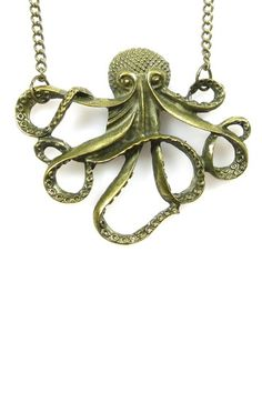 Hey steampunkers, I hear you like octopii: Octopus Pendant