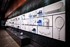 Globe provided 30 objects photos to tell a complete story of AF1 culture. We transfered these story elements to a extra long powerwall in retail, in order to engage consumer to read these story details.
