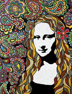 Mona gets her groove on [Ben Leone] (Gioconda / Mona Lisa) Gotta love this. Wish cannibus were legal in the US. Black light would be great on this image. Art Pop, Mona Friends, La Madone, Mona Lisa Parody, Mona Lisa Smile, Wow Art, Italian Artist, Art Plastique, Vincent Van Gogh