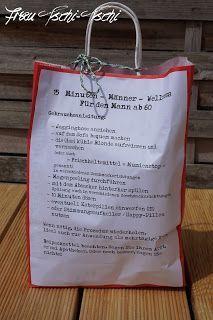 """Hier eine kleine Geschenkidee für """"echte Kerle"""" ;)      Zutatenliste:  Bier, Schnaps, Knabberzeug, Traubenzucker, Jelly Bellys   Alles i..."""