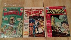 Lot of 3 DC Comics Books Mister Miracle Thunder Agents Strange Adventures