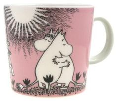 The Arabia Moomin Love Mug is a delicate pink mug that celebrates the long friendship between Moomin and Snorkmaiden. When buying Moomin designs you buy more than just a mug. Les Moomins, Moomin Mugs, Cappuccino Tassen, Tove Jansson, Kitchenware, Tableware, Porcelain Mugs, Ceramic Cups, Malm