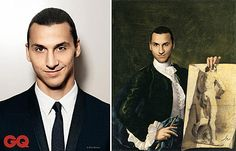 Modern celebrities travel back in time through historical paintings Golden Moustache, Celebrity Travel, French Photographers, Back In Time, Old Master, Portrait Art, Photo Manipulation, Time Travel, Photoshop