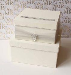 Wedding card box Wedding Card Holder Wedding by jamiekimdesigns