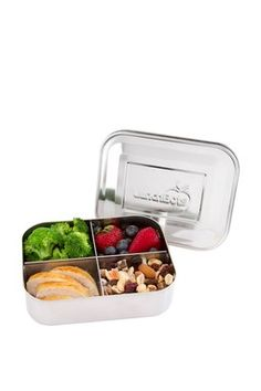 Quad Stainless Steel Divided Food Container - Stainless