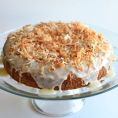 Coconut Rum Cake - a decadent treat for the grown-ups from The Foodie Army Wife