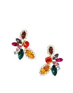 Image 1 ofLove Rocks Multicolour Rhinestone Chandelier Earrings