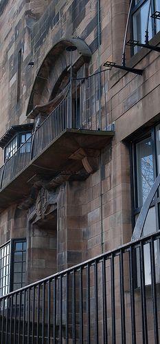 Glasgow School of Art, Charles Rennie Mackintosh. 1899. Glasgow, Scotland.