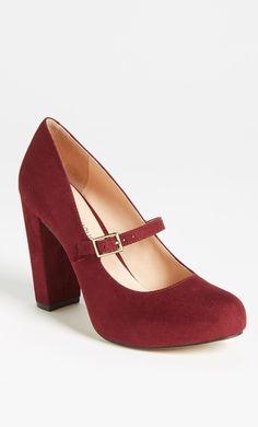 Burgundy Heels. love the classic style and funky colour