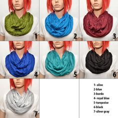 Silk scarves -  Infinity scarves by Pixiesdance on Etsy, $19.00