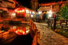 A very nice little lodge inside the old town of Lijiang, Yunnan Province of China