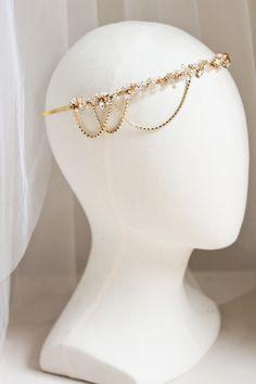 Gold bridal headband_bespoke for Rana 02
