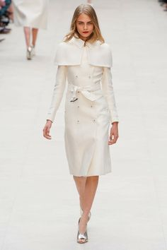Gothic Couture: White Hot Goth from Burberry Spring 2013. Via Fashionista.com