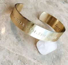 Personalized Bracelet Cuff - Custom Hand Stamped Bracelet - Stamped Metal Bracelet - Your Name Quot #fatherofthebrideoutfit #father #of #the #bride #outfit #father #of #the #bride #outfit #winter
