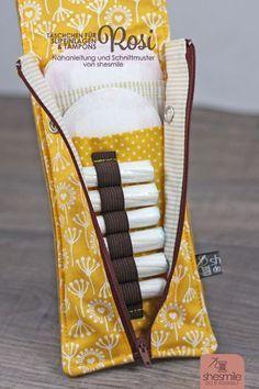 Täschchen für Slipeinlagen und Tampons - Rosi (Eine Nähanleitung und Schnittmuster von shesmile) Das Must-Have für jede Damenhandtasche einfach selbst nähen.