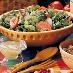 Tossed Salad with Lime Vinaigrette Recipe (maybe with less oil)