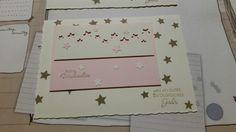 Stampin up Christmas card in a different colour  Weihnachtskarte mal in einem anderen Farbton ... in zartrosa