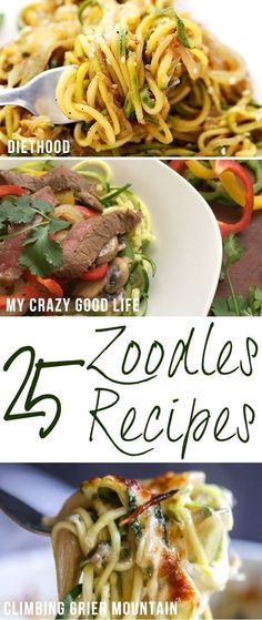 We LOVE zoodles! Zucchini noodles are such an easy way to add some veggies to your diet! Here are more than 25 of my very favorite zoodles recipes!