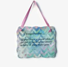 Motivational Ceramic Plaque In Pastel Colors by IllusionCreations