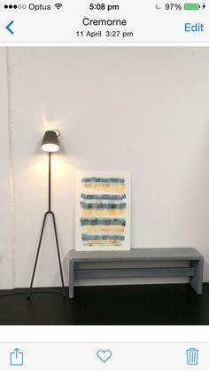 A1 sized limited edition print by Stefan Gevers. Watercolour. Green blue yellow. Fresh