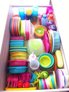 My beloved exclusive Tupperware drawer. - My beloved exclusive Tupperware drawer.