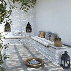 Ibiza Style Interior, Garden Steps, Ibiza Fashion, Big Garden, Outdoor Living, Outdoor Decor, Mediterranean Style, White Sand Beach, Garden Inspiration