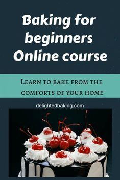 Baking for beginners online course : The most affordable online baking course. N… Baking for beginners online course : The most affordable online baking course. Now learn the basics of baking from the comforts of your home. Baking Basics, Baking Tips, Bread Baking, Baking Recipes, Cake Baking, Oven Recipes, Pastry Recipes, Baking Ideas