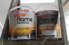 DIY: Exposing a Steel Beam & Fire Protection - Kezzabeth | DIY & Renovation Blog Sponge Rollers, Small Tins, Steel Beams, Extreme Heat, Simply Filling, Industrial Interiors, Paint Drying, Egg Shells, Mid Century
