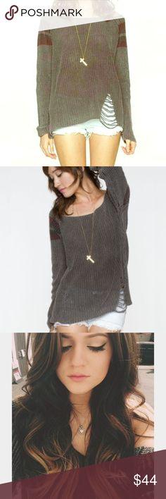 Brandy Melville Margot sweater Kylie Jenner 💕 Brandy Melville Margot sweater as seen on Kylie Jenner 💕 doesn't have the brandy Melville tag as some brandy Melville items don't! Bought in the soho store 💕 Brandy Melville Sweaters
