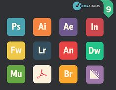 """Check out new work on my portfolio: """"Adobe iCons CC Flat Icons, Working On Myself, New Work, Adobe, Behance, Classroom, Gallery, Check, Free"""