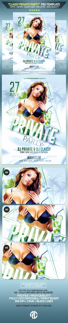 Classy Private Party | Psd Flyer Template | Creative Flyer |Psd Available. #flyer #template #party  Thanks for The Watching !