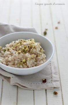 risotto mortadella e pistacchi