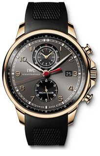 IW390202  NEW IWC PORTUGUESE YACHT CLUB CHRONOGRAPH MENS WATCH   Usually ships within 8 weeks- FREE Overnight Shipping- NO SALES TAX (Outside California)- WITH MANUFACTURER SERIAL NUMBERS- Black Dial - Chronograph Feature- Self Winding Automatic Movement- 3 Year Warranty- Guaranteed Authentic - Certificate of Authenticity- Solid 18K Rose Gold Case - Black Rubber Strap- Scratch Resistant Sapphire Crystal - Manufacturer Box