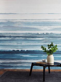 In search of a statement making wallcovering? Hand painted then digitally printed on a natural ground, Fade from Phillip Jeffries transforms walls into a large watercolor mural.