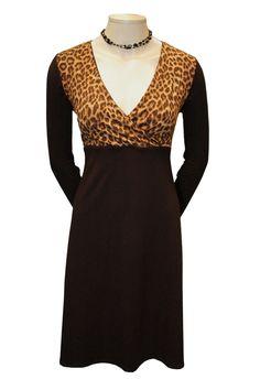 Black Dress Leopard Fall 2014  Chic derss for work